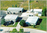 Aerial view of S-O-S Electronics building